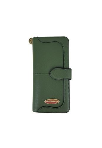 British Polo green British Polo Emboss PU Leather Wallet B4181AC4C6005DGS_1
