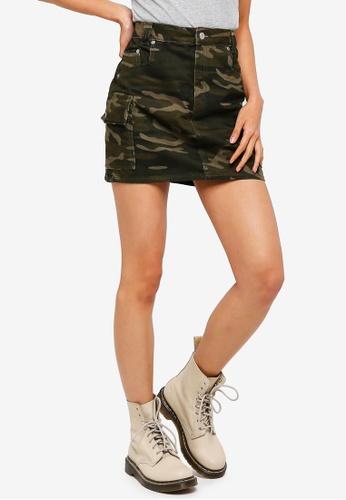 2b4f967b44 Buy TOPSHOP Camouflage Denim Skirt Online on ZALORA Singapore