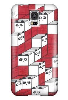 Panda Blocks Matte Hard Case for Samsung Galaxy S5