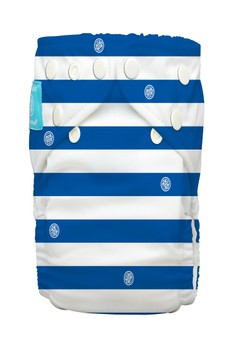 Blue Stripes 2-in1 cloth baby diaper