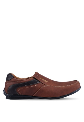 Louis Cuppers brown Faux Leather Shoes 15C88SH2B97D9CGS_1