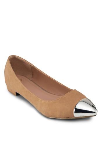 銀飾尖頭淑esprit hk分店女鞋, 女鞋, 芭蕾平底鞋