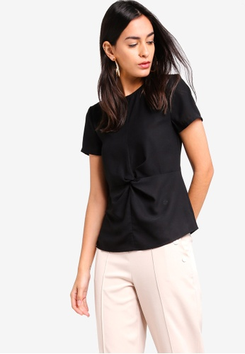 ZALORA black Twist Detailed Top 1F3AFAA20A7A7CGS_1