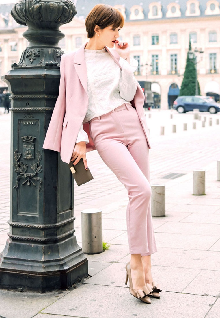 Pink Yoco Trousers Yoco Tailored Trousers Yoco Pink Tailored Tailored zFwUz8xXq