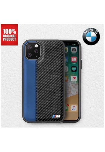 """BMW blue BMW - Leather Carbon Contrast Stripe - Case iPhone 11 Pro 5.8"""" - Blue 9DDECESFC0879BGS_1"""