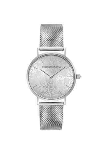 BCBG silver BCBGMAXAZRIA BG50696006 Silver Stainless Steel Milanese Watch 4D673ACFCC247EGS_1
