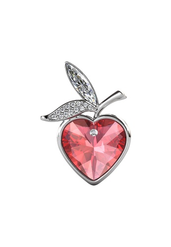 Her Jewellery LUVEA - Love of Apple Brooch (White Gold) by Her Jewellery 4EA01ACD7CDBF1GS_1