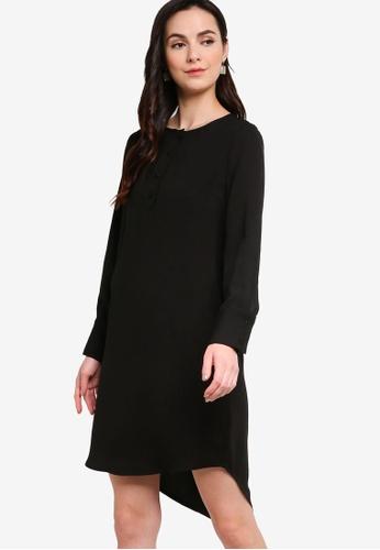 ZALORA WORK black Half Placket Dress 5BB49AA2C2BF3EGS_1