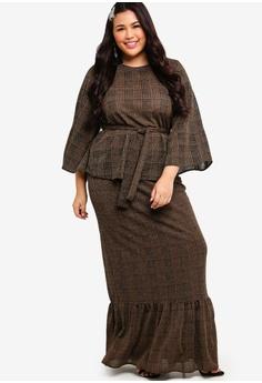 f5be24e504b 20% OFF Lubna Flared Sleeve Low Panel Skirt Set S  79.90 NOW S  63.90 Sizes  XXL XXXL XXXXL XXXXXL