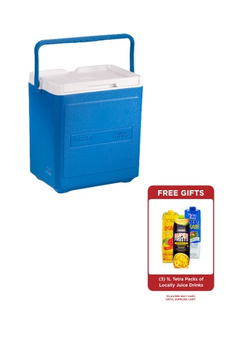 Coleman blue 20 Can Portable Party Stacker Cooler 66EFCHLA5C6A81GS_1