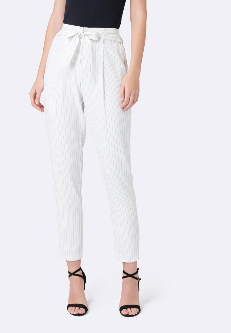 Tapered New Porcelain Eleanor amp;Black Pinstripe Forever Pant wqt10nUBw