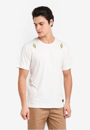 Flesh Imp white Kranz Patches T-Shirt E0E27AAC9C1CCCGS_1