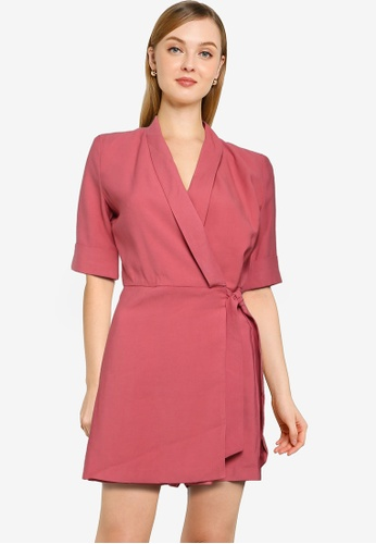 ONLY pink Hyacint-aia Playsuit 3EC81AA3CE651CGS_1