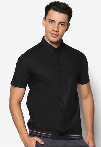 羅紋下擺短袖襯衫、 服飾、 襯衫24:01羅紋下擺短袖襯衫最新折價