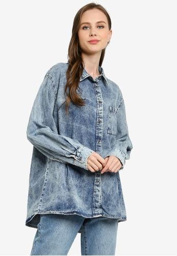 Cotton On 藍色 Boyfriend 襯衫 D1C93AA1B8B8ADGS_1