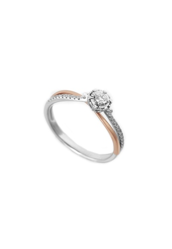 GOLDHEART gold GOLDHEART Promesee Ring, White Gold & Rose Gold 750 (PRO-R4628) AD3C3AC438AAD3GS_1