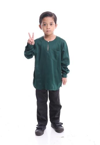 Denai Boutique green Kurta Razlin Junior 97D98KA744F8B8GS_1