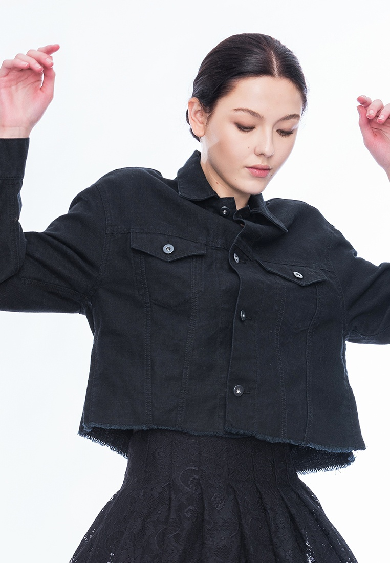 Jacket Cropped Callie Black Style Alpha WRxZnTwXZ