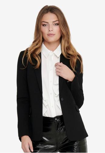 ONLY black Pinko-Vika Long Sleeve Fitted Blazer 24EEDAA0771C6EGS_1