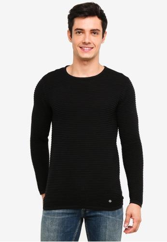!Solid 黑色 Struan 混色針織Sweater 47403AAFB902F0GS_1