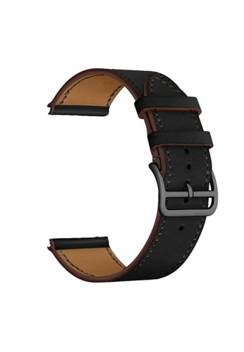 Kings Collection black Black Leather Apple Watch Band with Black Buckle 42MM / 44MM (KCWATCH1076) 9B875AC322DA66GS_1