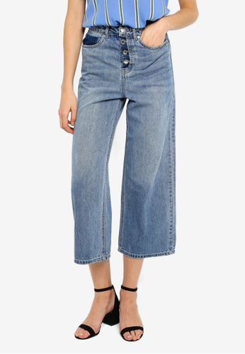 new product 40574 42ed8 Kathy High Rise Culotte Jeans