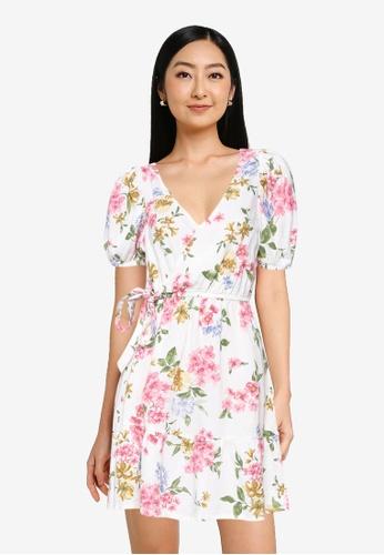 Springfield beige Printed Sustainable Linen Dress E72BFAADF807DBGS_1