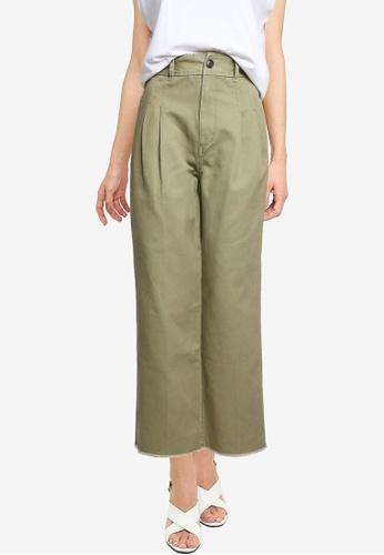 LOWRYS FARM green Pleated Detail Pants 5488AAAA2E3C76GS_1