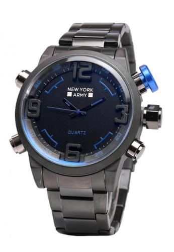 Greatvalueplus black and blue Newyork Army NYA8933 Numbers IP Watch GR688AC99KMMPH_1