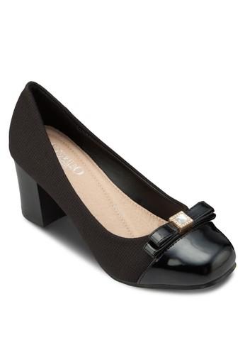 蝴蝶結異材質高跟鞋, 女鞋, esprit台灣官網鞋