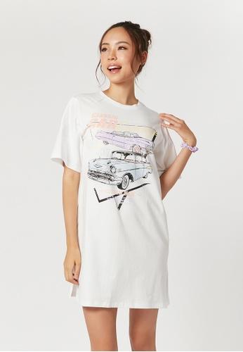 6IXTY8IGHT white 6IXTY8IGHT CERELIA, T-Shirt Dress DS09236 9D9A3AA61F9B13GS_1