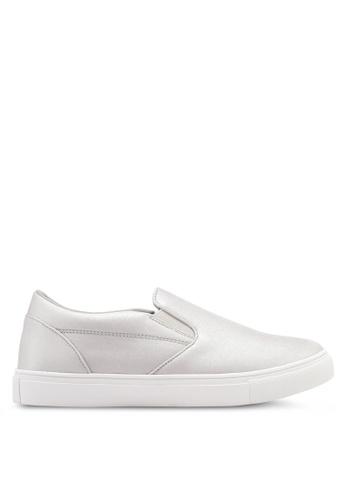 ZALORA silver Classic Slip On Sneakers 9116FSHFC39CB2GS_1
