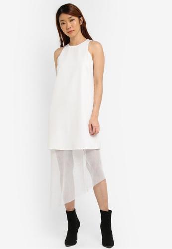 Something Borrowed white Cut-in Layered Midi Dress 18334AA6096B27GS_1