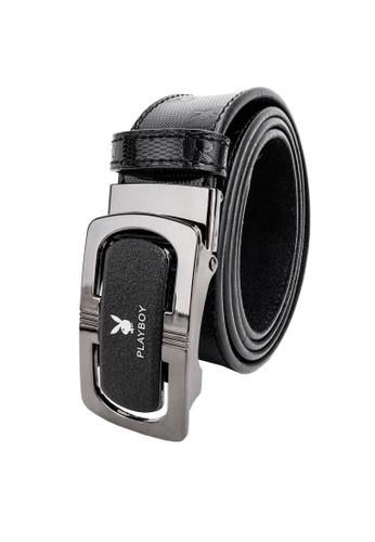 Playboy black 35mm Holeless Clip Belt 0F4E1AC10CD345GS_1