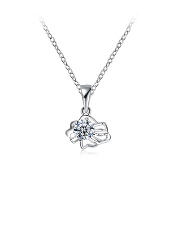 Glamorousky white Simple and Fashion Twelve Constellation Leo Pendant with Cubic Zircon and Necklace 72519AC8544831GS_1