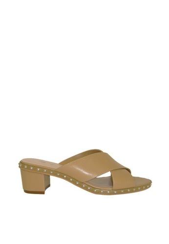 eq:iq brown eqFAITH Criss-Cross Mule Sandals EQ351SH0FKMJSG_1