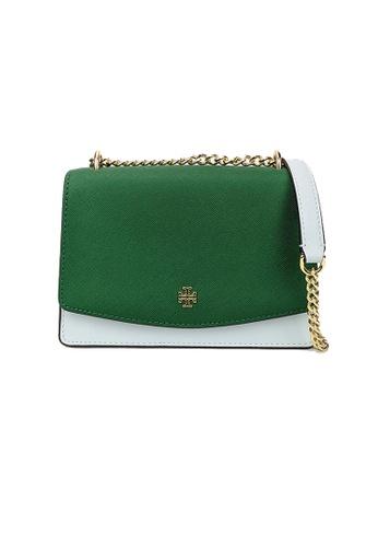 TORY BURCH green and blue Tory Burch Emerson Mini Shoulder Bag 73154 AF1AAAC7FF22EDGS_1