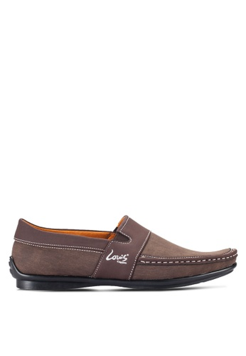 Louis Cuppers brown Contrast Stitch Loafers LO977SH49RCKMY_1