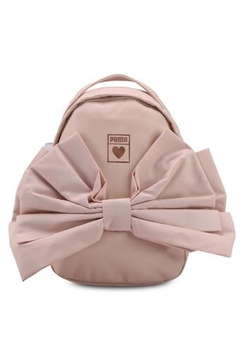 Puma Select beige Prime Valentine Bow Backpack PU549AC0SWCXMY_1
