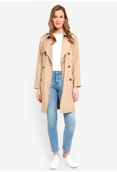 eeb1a390 19% OFF Cotton On Hannah Soft Mid Trench Coat S$ 69.95 NOW S$ 56.90 Sizes 10