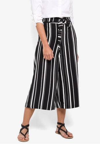 Dorothy Perkins black Black And White Stripe Crops EF34CAACDB6B22GS_1