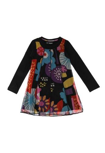 Desigual black Tulle Print Dress 724C8KA3CD7DA0GS_1