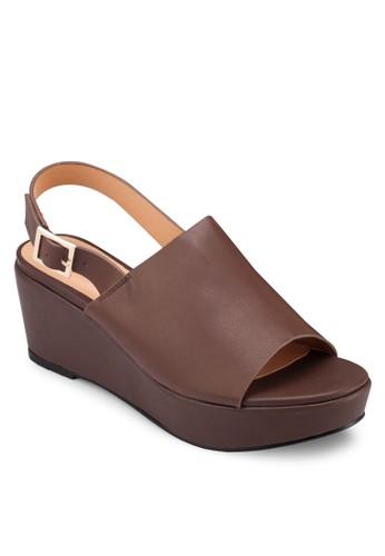 寬帶繞踝厚底楔形esprit 澳門涼鞋, 女鞋, 楔形涼鞋