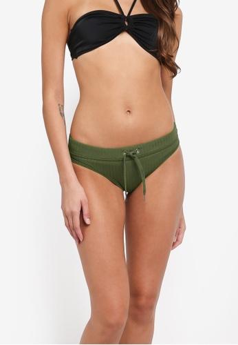 Seafolly green Inka Rib Banded Hipster Bikini Bottom 63529USF6801CCGS_1
