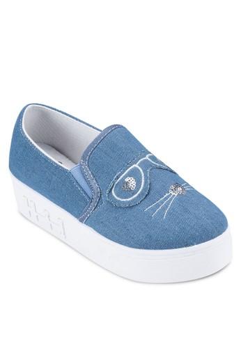 吉蒂貓帆布懶人鞋, 女esprit鞋子鞋, 鞋