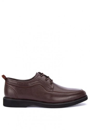 Sledgers brown Peoria Lace Up Office Shoes E620FSHC4583B8GS_1