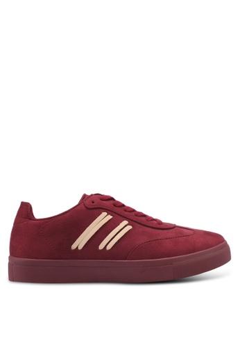 ZALORA red Side Stitching Detail Sneakers 8E669SH9ADFB18GS_1