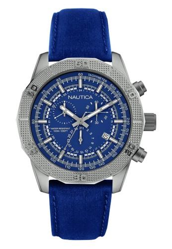 NAUTICA blue Nautica Amazone NST11 Blue Leather Strap NA146AC56OBVSG_1