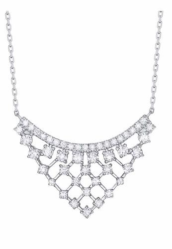 Smiling Rocks white 10K White Gold 0.78ct Lab Grown Diamond Drizzle Necklace 310A9AC2DBF0DEGS_1