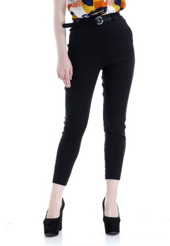Evernoon black Hazel Celana Chino Wanita Bawahan Kasual Baggy Pants Woman Fashionable - Hitam DA3FCAAABFA1EBGS_1